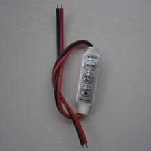 5pcs 12V Mini 3 Keys Single Color LED Controller Brightness Dimmer for led 3528 5050 5630 2835 strip light