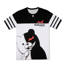 Danganronpa Cosplay Monokuma Unisex 100% Cotton Short-Sleeved Casual T-Shirt Tee Shirt Sportswear Coat Tops