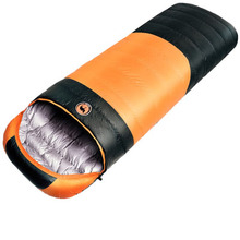 winter cold weather ultralight camping sleeping bag portable envelope white duck down sleeping bag