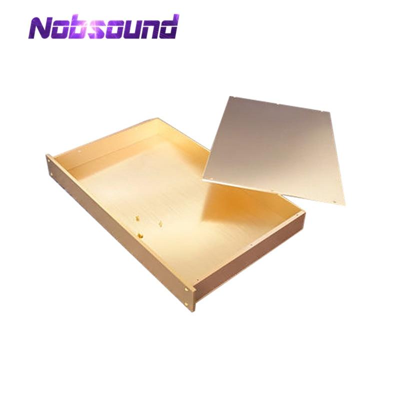 Blank Pre Amplifier/Headphone Amp/DAC Chassis Gold Aluminum Enclosure DIY Case