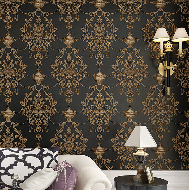 Gold And Black Wallpaper For Walls