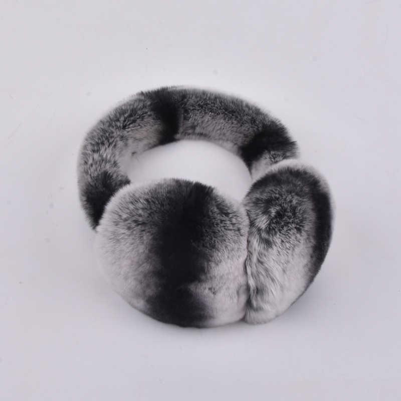 Натуральный 100% кролика Рекс Меховые наушники Для мужчин теплые модные wo  Для мужчин России зима e287af80cacd5