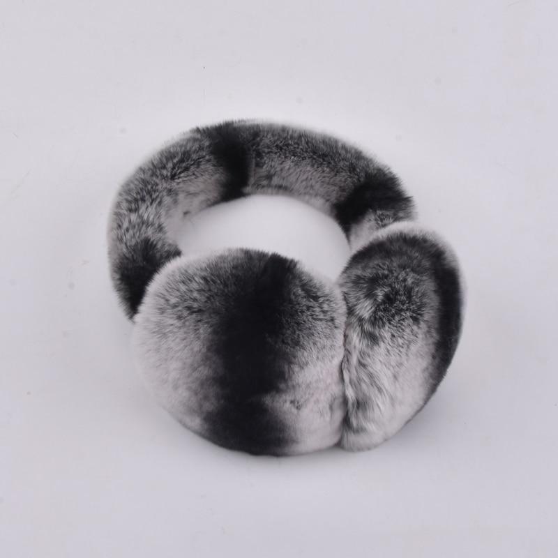 Natural 100% Rex Rabbit Fur Earmuff Men Warm Fashion Women Russia Winter  Real Fur Earmuffs Kids Fur Ear Cover Girl's Earlap