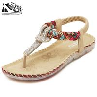 Summer New Women Fashion Sandals Bohemian Large Size Women Sandals Soft Bottomed Female Comfortable Casual Flat