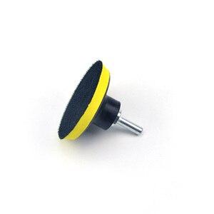 Image 3 - POLIWELL 3 4 5 дюймов M10 резьба самоприлипающая шлифовальные колодки крюк и петля наждачная бумага коврик на присосках Авто шлифовальный абразивный инструмент части
