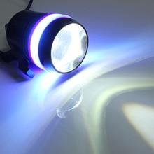 30 Вт Универсальный U3 LED вождения мотоцикла фары противотуманные огни пятно света Водонепроницаемый внешний