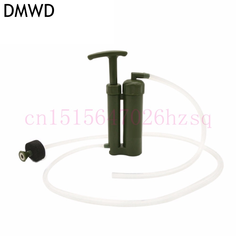 цена на DMWD Easy Portable plastic Ceramic Soldier Water Filter Purifier Cleaner 0.1 micro for Outdoor Survival Hiking Camping