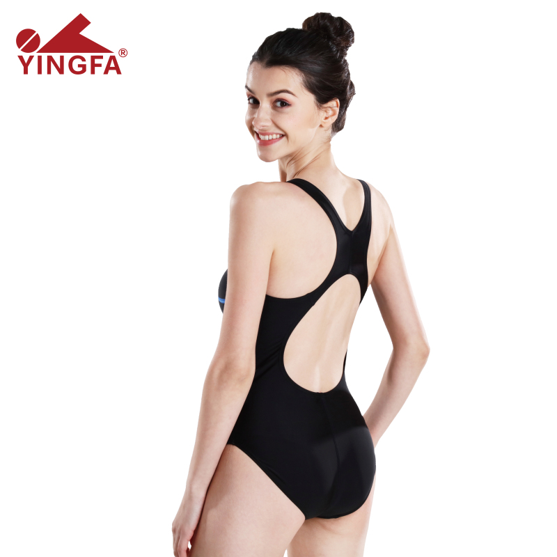 eb0ab184c6735 Yingfa Swimwear Women 2018 Arena Swimsuit Girls One Piece Black Plavky  Competition Swimming Suit For Women Swimsuits -in Body Suits from Sports ...