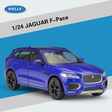 New WELLY 1/24 Scale UK JAGUAR F Pace SUV Diecast Metal Car Model