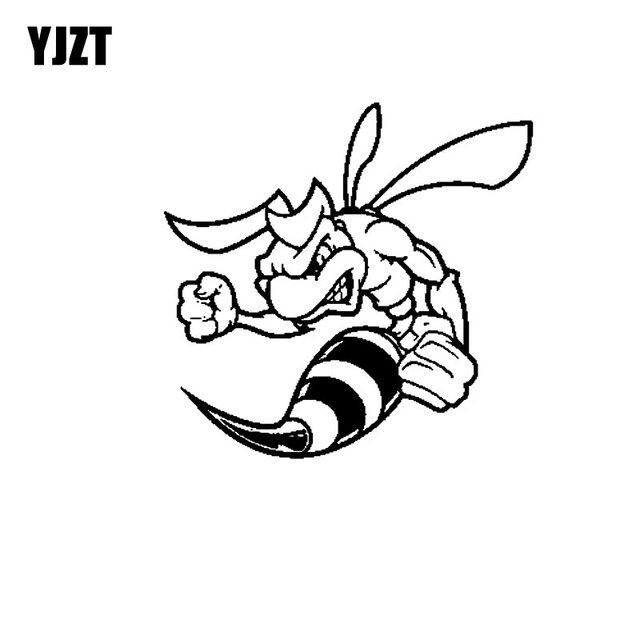 Yjzt 15 2cm 14 6cm Vinyl Car Sticker Decals Strong Bee Wasp