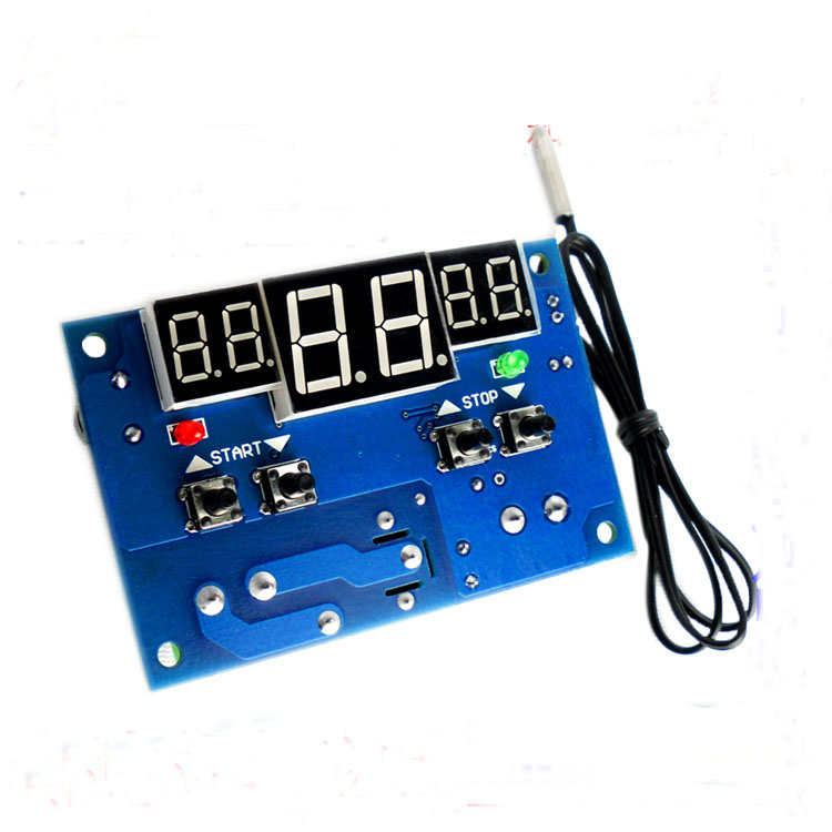 XH-W1401 DC 12V Intelligent Digital Temperature Controller Detect With NTC Sensor Three Synchronous Red LED Display