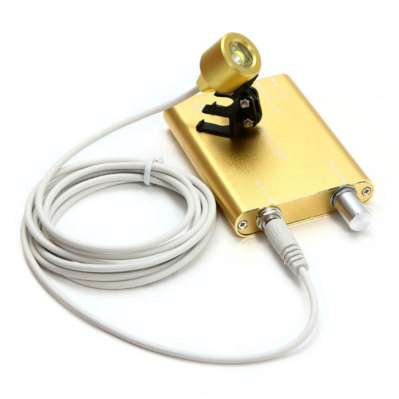 New Brand Yellow Color Portable LED Headlight Lamp For Dentist Dental Binocular Loupe With CE ISO