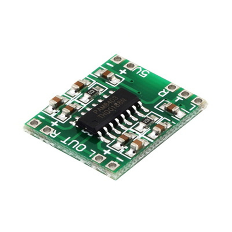 цена на 10pcs PAM8403 Super mini digital amplifier board 2 * 3W Class D digital amplifier board efficient 2.5 to 5V USB power supply