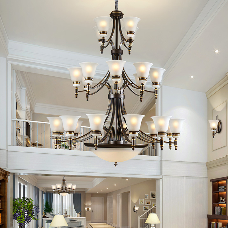 101 Living Rooms With Chandelier Lighting: Modern Led Chandelier Lighting Villa Living Room Hotel