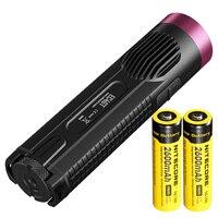 NITECORE EC4GT: Красный Ограниченная серия Охота Diver Handy Портативный 1000 люмен излучатель фонарик свет лампы 2*2600 мАч батарея