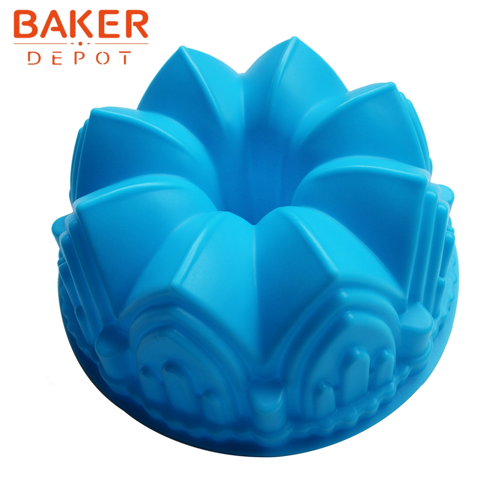 Large crown silicone cake mold microwave baking tools ...