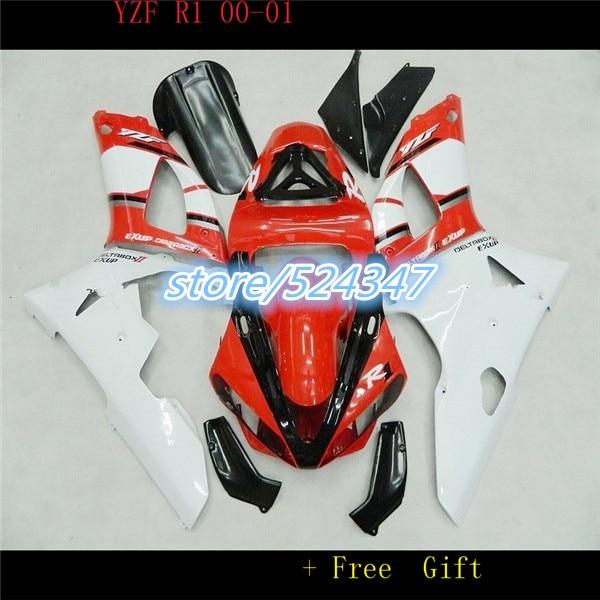 Nn Red black body parts for fairings YZFR1 2000 2001 YZF R1 00 01 YZF R1 plastic fairing kit for Yamaha