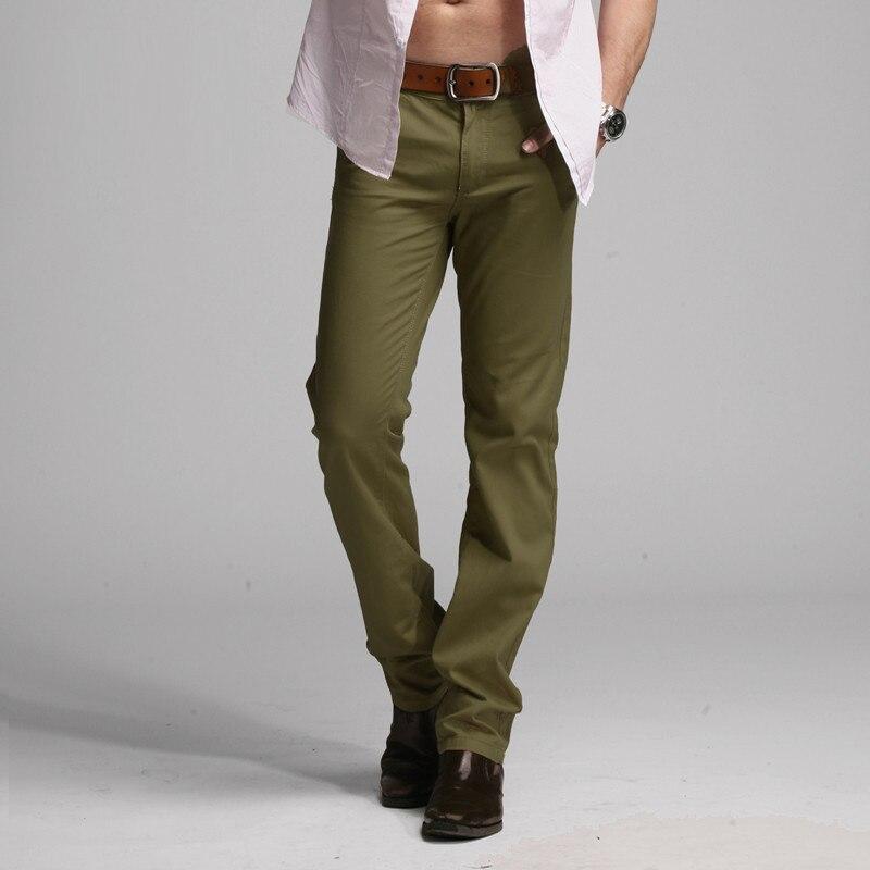 2019 Sıcak Marka Rahat Pantolon Erkekler Orta Tam Ince Düz Takım - Erkek Giyim - Fotoğraf 4
