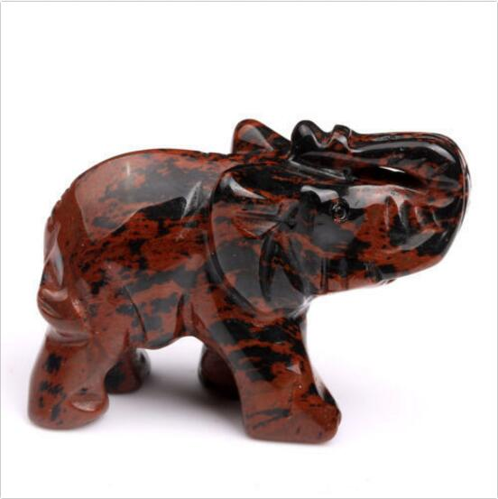 Natural Carved Crystal Elephant Crystal Healing Crafts