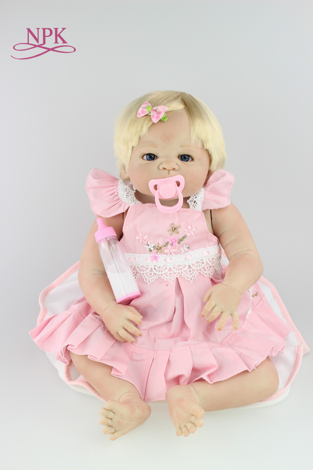 NPK free shipping hotsale reborn baby doll girl beautiful so truly real collection finished doll as picture