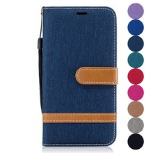 Fashion Case For Motorola G4 G5 Plus PU Leather Pouch Denim Style Flip Wallet Stand Cover Pouch