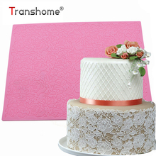 Transhome Rose Silicone Mold Lace Mat Cake Decorating Tools Cake Lower Lace Fondant Mold Mousse Brim Decor Baking Pastry Tools