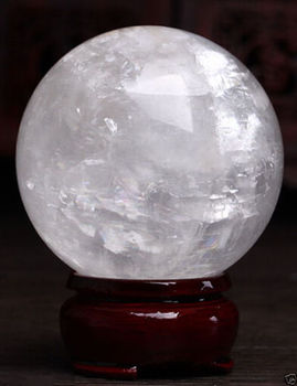 Healing Sphere magic decoration Fine gift 80mm + Stand Natural White Calcite Quartz Crystal Sphere Ball Healing Gem stone