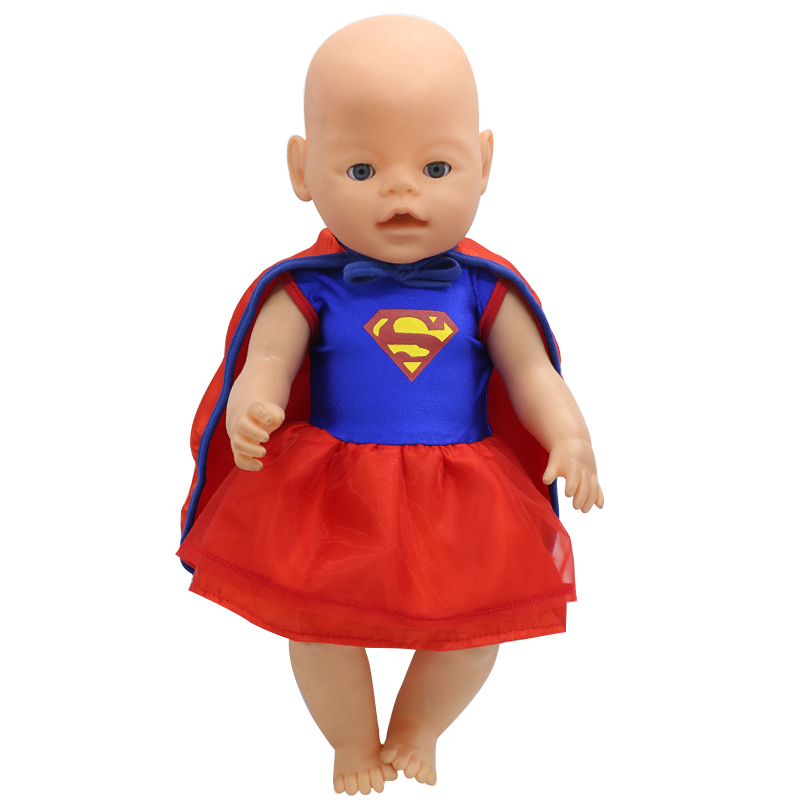 Baby Doll Clothes Cosplay Superman Costume Dress Cloak