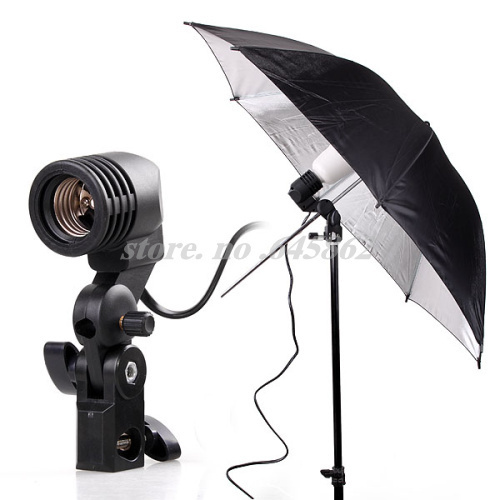 Free Shipping Photography Photo Light Lamp bulb Single Holder E27 Socket Flash Bracket Studio