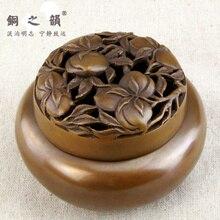 Copper incense burner incense rhyme     stove antique crafts  Handmade Handbag copper decoration