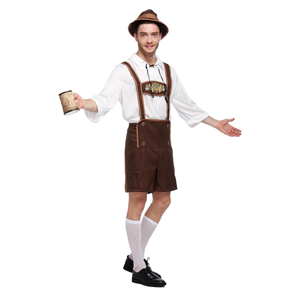 cdf69f6a31a LMFC Halloween Costumes For Men Oktoberfest Traditional German Bavarian  Beer Male Cosplay Festival Party Adult Clothes Plus size-in Holidays  Costumes from ...