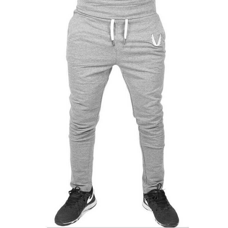 Mens Casual Trousers Slim Fit Sport Pants Running Jogging Joggers Gym Sweatpants