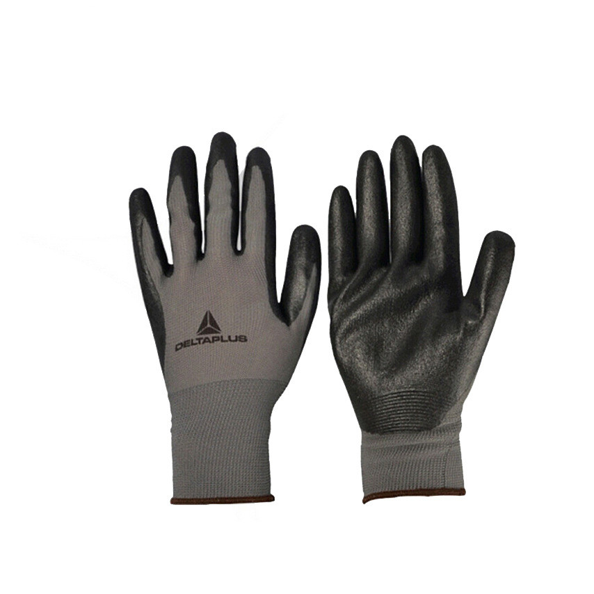 Butyl nitrile coating protective gloves knitted wear resistant oil, breathable anti-skid anti-cutting gloves проточный фильтр барьер профи осмо 100