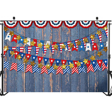 American Flag Backdrop for Photography Vinyl Retro Wood Floor Backdrop Patriotic Independence Day Newborn Photo Background patriotic cover up american flag wrap dress