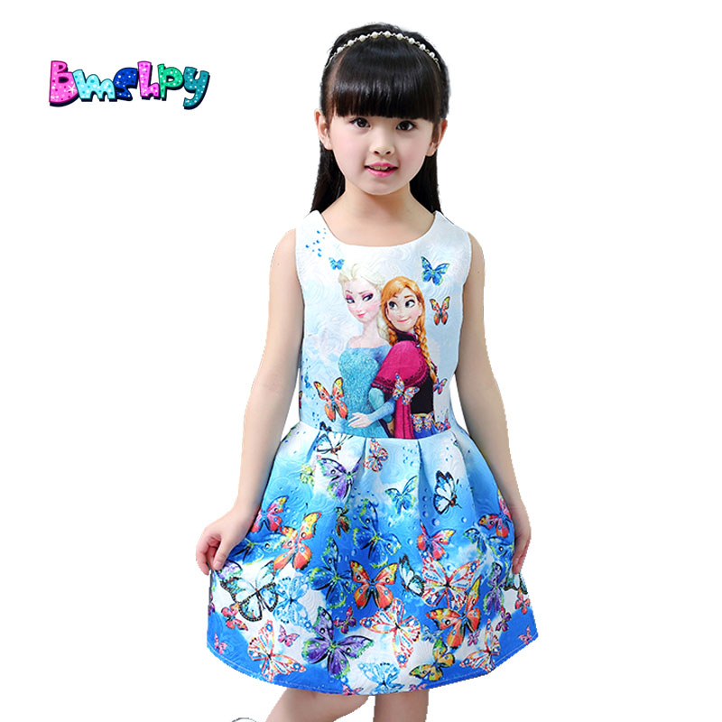 bmshpy 2017 brand girls dresses summer kids clothing for girl designer wedding sleeveless a line flower girl dress hot sale