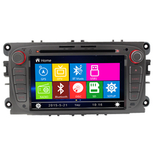 LJD dual din 7 inch touch screen gps car navigation dvd car radio steer wheel control for fo  rd mondeo 2008 navigatio