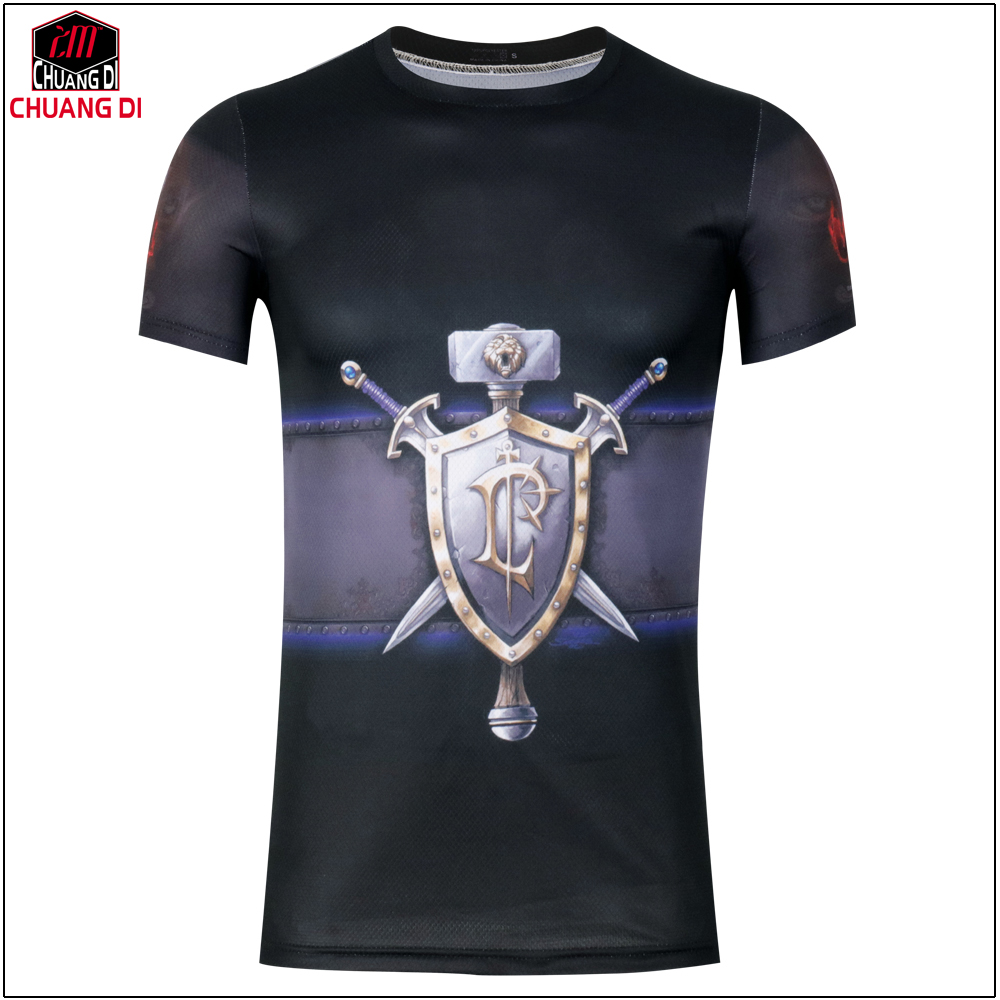 Design t shirt games online - Hot New Summer Fashion T Shirts Men Short Sleeve Game Tees Assassins Creed 3d Printing T