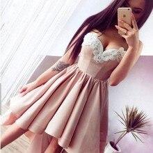 Высокие Низкие кружевные розовые платья милое Короткие Выпускной Вечеринка платья изготовление на заказ, платья cortos
