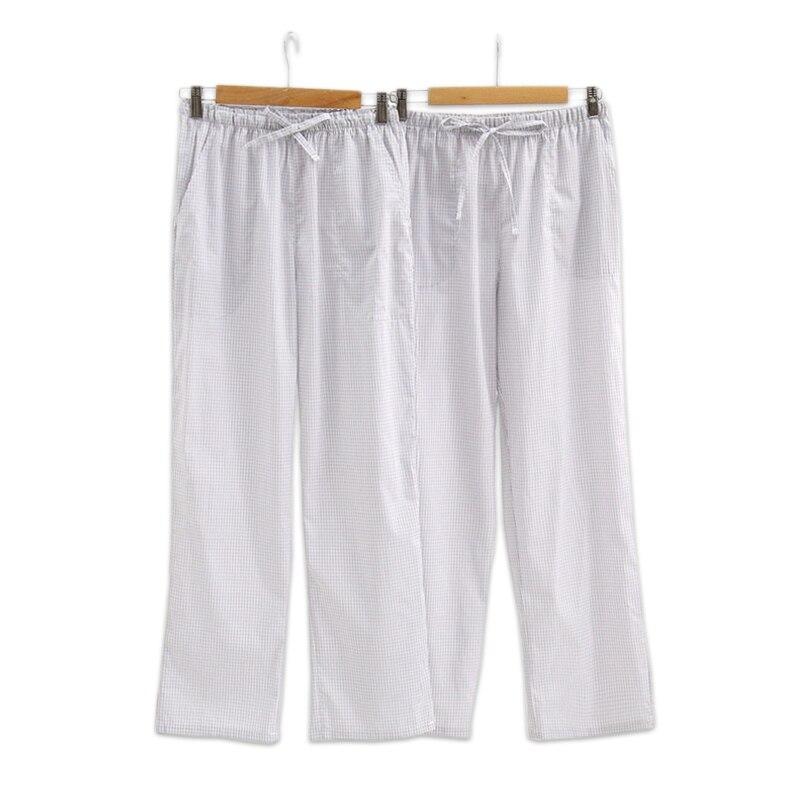 Damen-nachtwäsche Einfache Grau Plaid Liebhaber Pyjamas Hosen Frauen 100% Baumwolle Sommer Schlaf Bottoms Weibliche Schlaf Indoor Hosen Pijama Inverno Mulher Profitieren Sie Klein