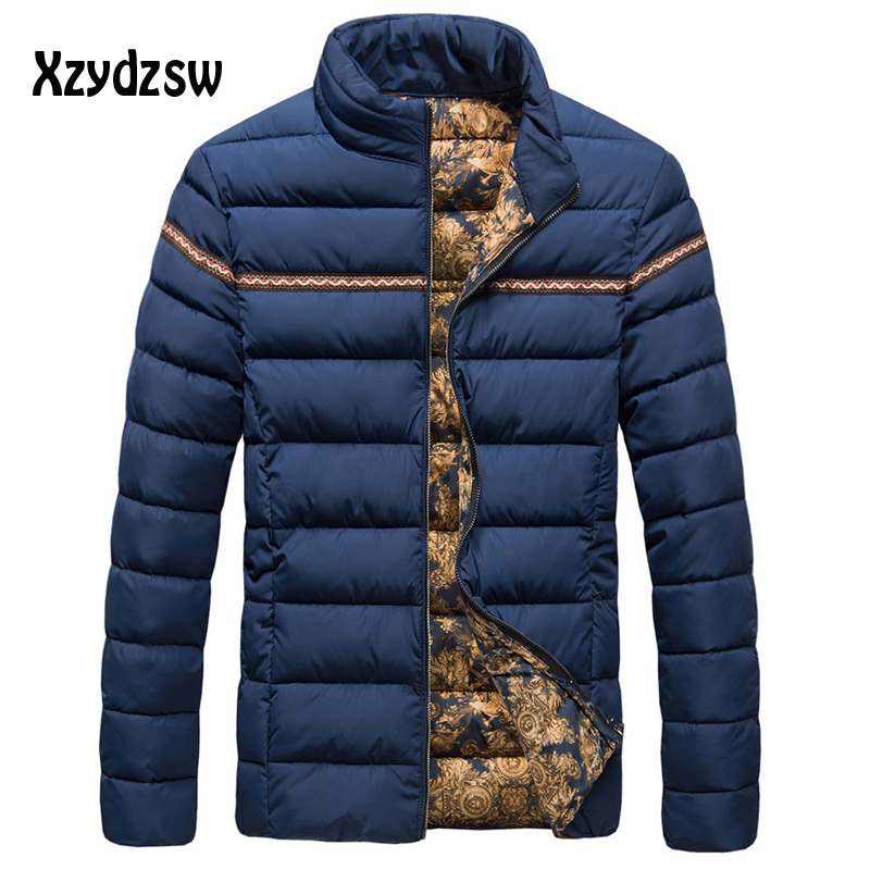 Brand Mens Winter Jackets And Coats Duck Down Jacket Stand Collar Solid Striped Slim Fit Mens Men Winter Coat Parka Men
