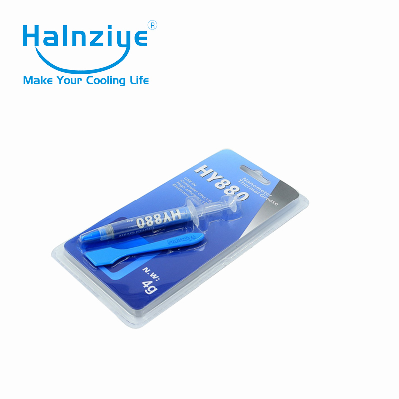 buy silicone nano CPU thermal paste/grease/compound with 5.15W/m-K 4g blister card package image