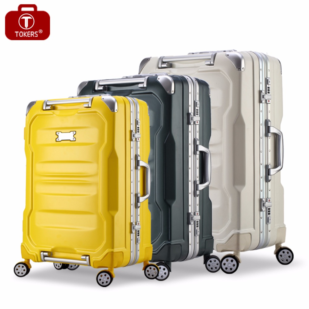 Tokers Easy handling Valise Girls Cheap Cabin Trolley Rolling Luggage Pc+abs 26inch Suitcase hot sale suitcase cheap electric guitar suitcase cheap price