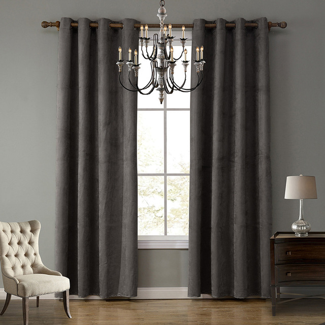 Suede Fabric Blackout Curtains
