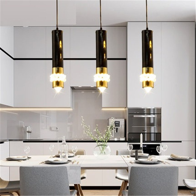 Simple Creative Iron Crystal Droplight Modern LED Pendant Light Fixtures For Dining Room Hanging Lamp Home Indoor Lighting hghomeart children room iron aircraft pendant light led 110v 220v e14 led lamp boy pendant lights for dining room modern hanging