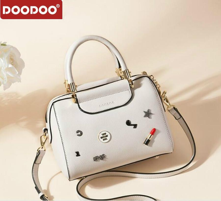 DOODOO Brand New Luxury Handbags Women Bags Designer Handbag Women Casual Tote Bag Female Shoulder Messenger Bags Pu Leather Bag women casual bow striped tote bags brand designer pu leather handbags large shoulder bag luxury ladies crossbody messenger bags