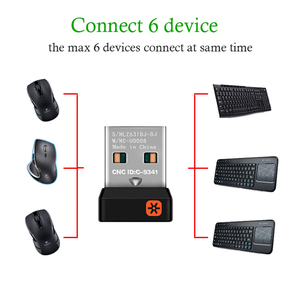 Image 4 - Wireless Dongle Receiver Unifying USB Adapter for Logitech Mouse Keyboard Connect 6 Device for MX M905 M950 M505 M510 M525 Etc