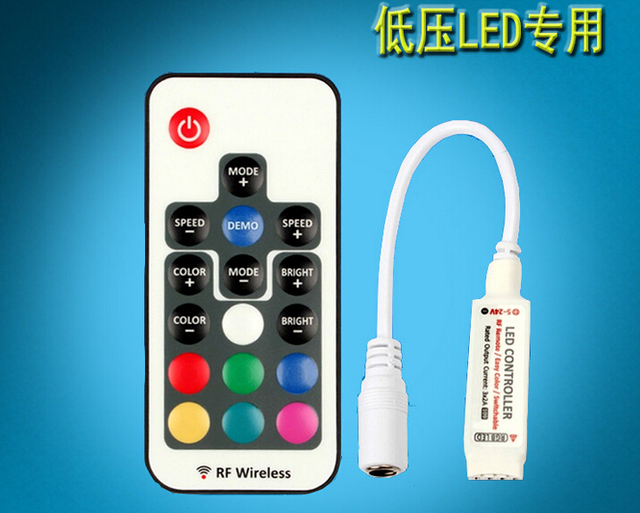 12V 17Key Wireless led IR RF Infrared wireless control for 3528 2835 5050 smd LED RGB Light 17 Key Free shipping