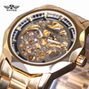 Winner New Number Sport Design Bezel Golden Watch Mens Watches Top Brand Luxury Clock Men Automatic