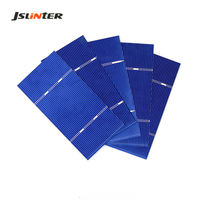 JSLINTER 104x52mm 30pcs Solar Monocrystalline Silicon Cell Battery 0.5V 1W for DIY 5V Solar Power Panel Working Current 1.96A