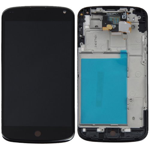 100% Guarantee For LG Optimus E960 Google Nexus 4 LCD Screen With Touch Screen Digitizer+Frame Assembly Free Shipping new lcd touch screen digitizer with frame assembly for lg google nexus 5 d820 d821 free shipping